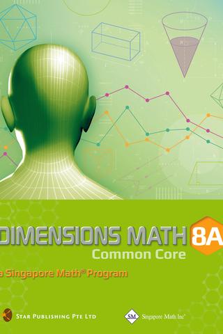 Dimensions Mathematics Common Core Textbook 8A
