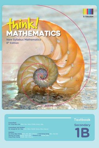Think! Mathematics Secondary Textbook 1B (8th Ed)